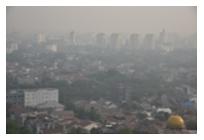大気汚染と私たちの生活の写真
